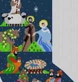 Canvas NATIVITY STOCKING  LP072