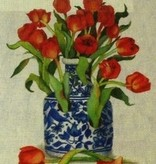 Canvas BLUE VASE WITH TULIPS  SB936