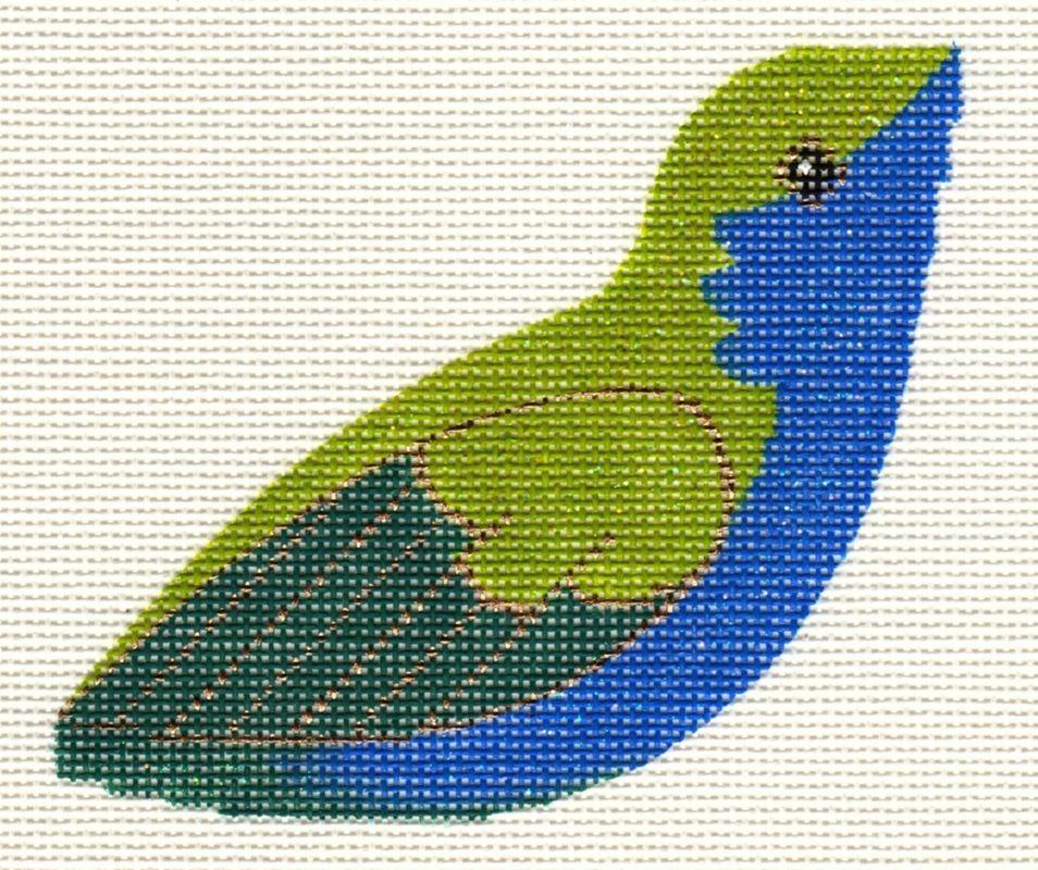 Canvas BLUE AND GREEN HUMMINGBIRD CLIP-ON BIRD LL306R
