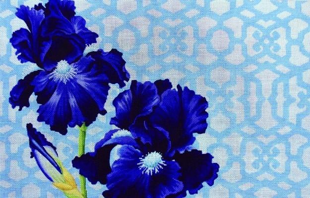 Canvas IRIS AND TRELLIS REVERSED  KB381R
