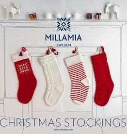 Yarn MILLAMIA STOCKING KIT - SNOWFLAKE WHITE/GREEN