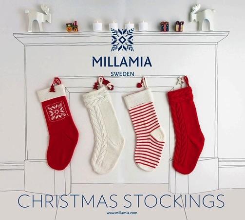 Yarn MILLAMIA STOCKING KIT - SNOWFLAKE WHITE/GREEN
