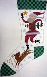 Canvas WISH UPON A STAR STOCKING  BF215
