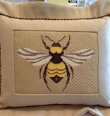 Canvas FLANGED BEE PILLOW<br />