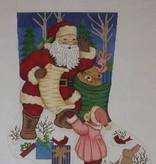 Canvas LITTLE GIRL WITH SANTA  7282