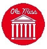 Canvas OLE MISS ORNAMENT  BT165