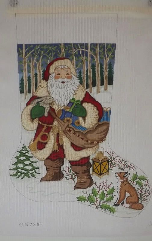 Canvas SANTA IN WOODS  CS7284