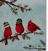 Canvas RED BIRDS II  SCPL11