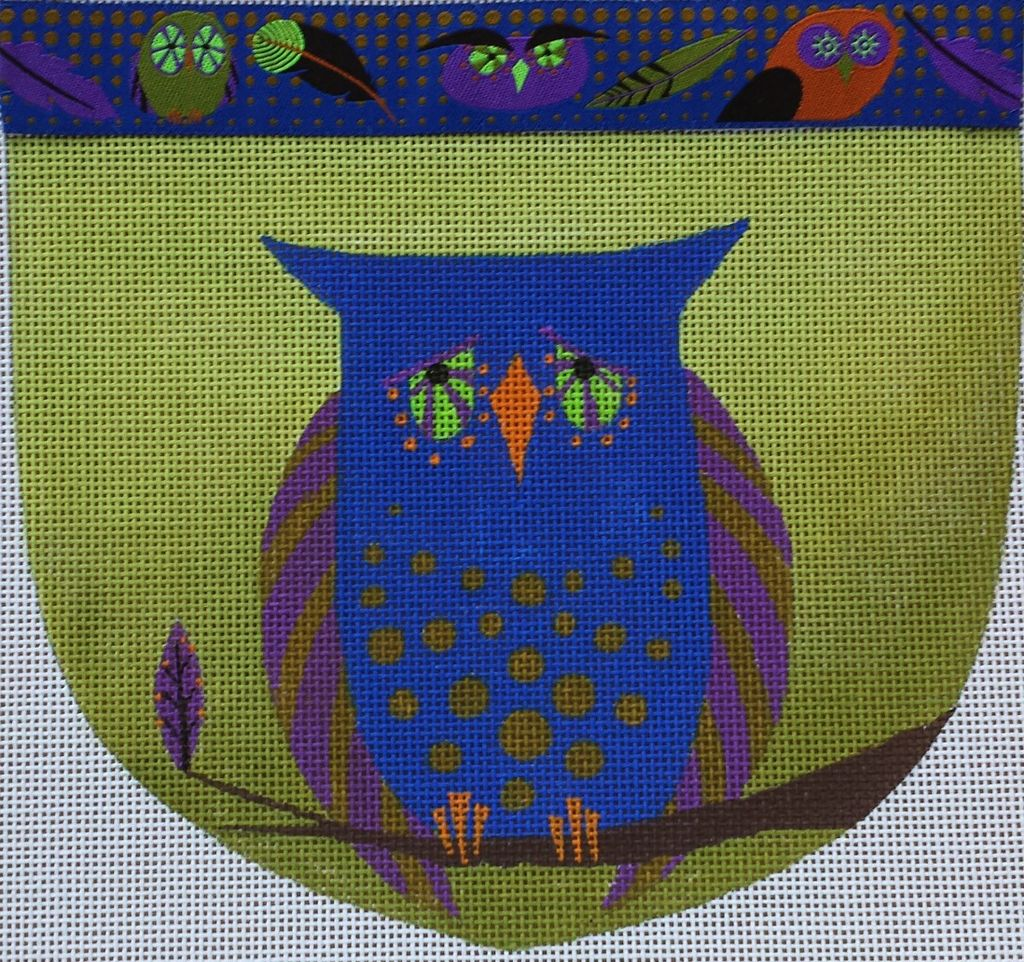 Canvas OWL POUCH WITH RIBBON  ZE424