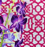 Canvas ORCHID AND TRELLIS  KB382