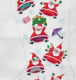 Canvas IT'S SNOWING SANTAS STOCKING  ED17201