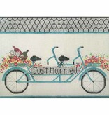 Canvas JUST MARRIED BIKE  2685
