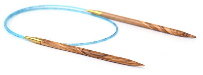 "Needles ADDI OLIVE WOOD CIRC 24"" #3"