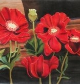 Canvas POPPIES AT THE WINDOWSILL  132902