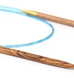"Needles ADDI OLIVE WOOD CIRC 16"" #3"