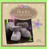 Yarn HELLO BABY WOOL BOOTIES KIT