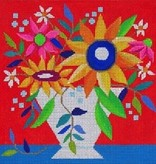 Canvas SUNNY DAY VASE RED  26037