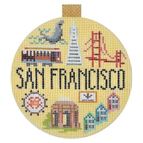 Canvas TRAVEL ROUND - SAN FRANCISCO<br /> KB1264
