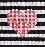 Canvas LOVE & STRIPES LEVEL 1 KIT<br /> <br /> INCLUDES FIBERS, CANVAS AND GUIDE