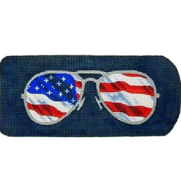 Canvas RAY BANS FLAG EYEGLASS CASE  KB132