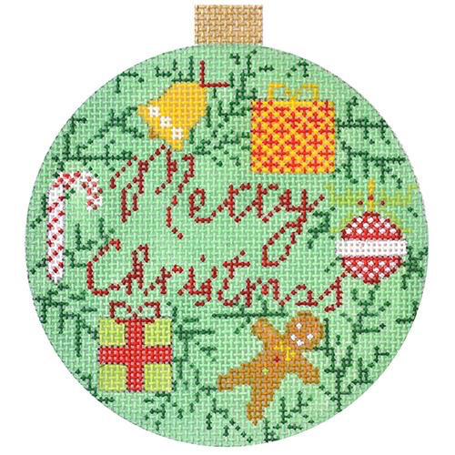 Canvas MERRY XMAS BAUBLE KB1452