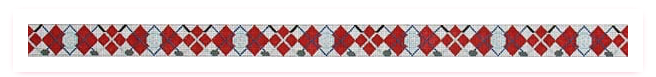 Canvas CROSSED CLUBS RED ARGYLE BELT  236H
