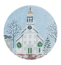 Canvas WHITE CHURCH AND STEEPLE  TSG25E