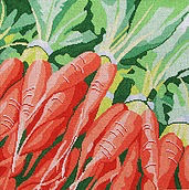 Canvas FARMERS MARKET CARROTS  11T
