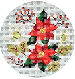 Canvas WINTER FLORAL ROUND  KB1479