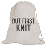 Accessories BUT FIRST, KNIT PROJECT BAG