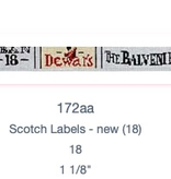 Canvas SCOTCH LABELS BELT  172AA
