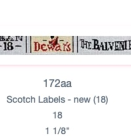 Canvas SCOTCH LABELS BELT  172AA