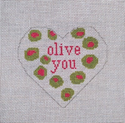 Canvas OLIVE YOU HEART ORNAMENT  N53