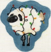 Canvas LITTLE SHEEP TANGLED IN LIGHTS  AB27