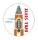 Canvas BALL STATE TRAVEL ROUND  BT637