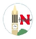 Canvas UNIV OF NEBRASKA CLOCK TOWER TRAVEL ROUND  BT814