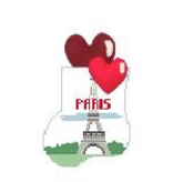 Canvas I LOVE PARIS WITH HEARTS STUFFER  CM499F