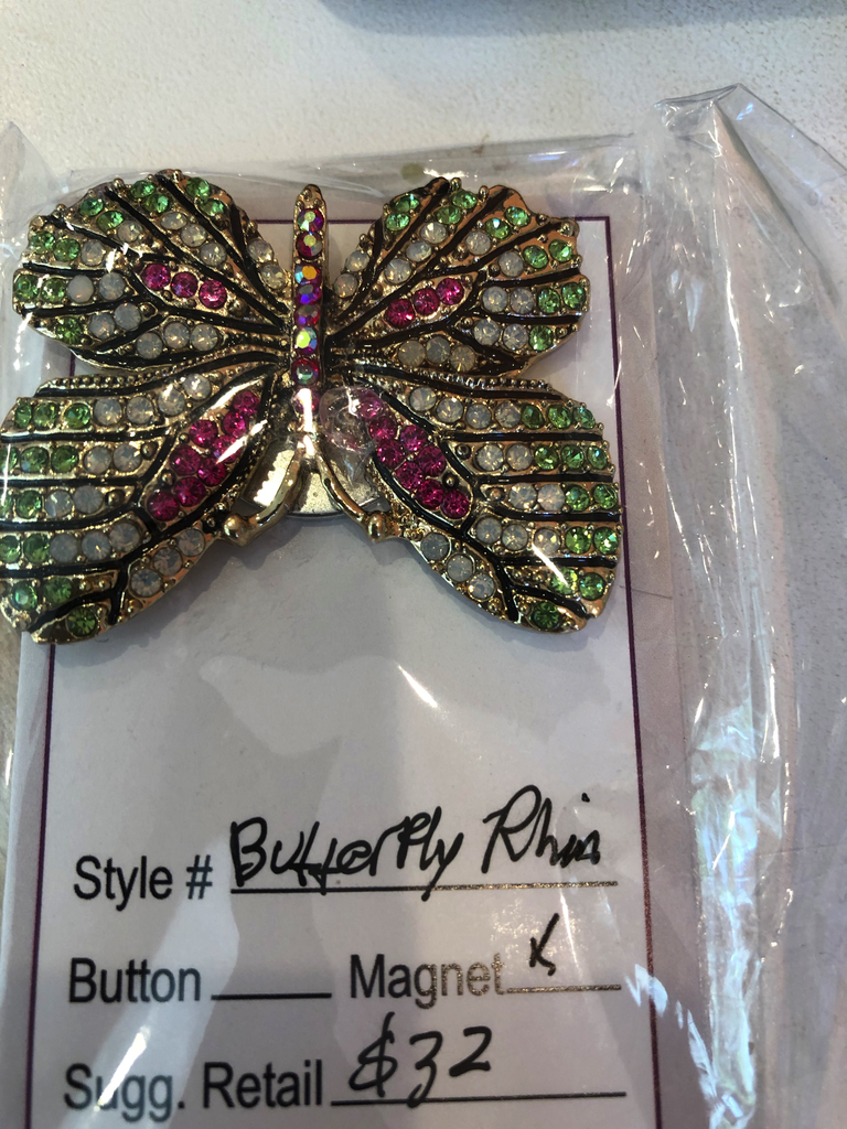Accessories NEEDLE MINDER - RHINESTONE BUTTERFLY