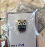 Accessories NEEDLE MINDER - ENAMEL OWL