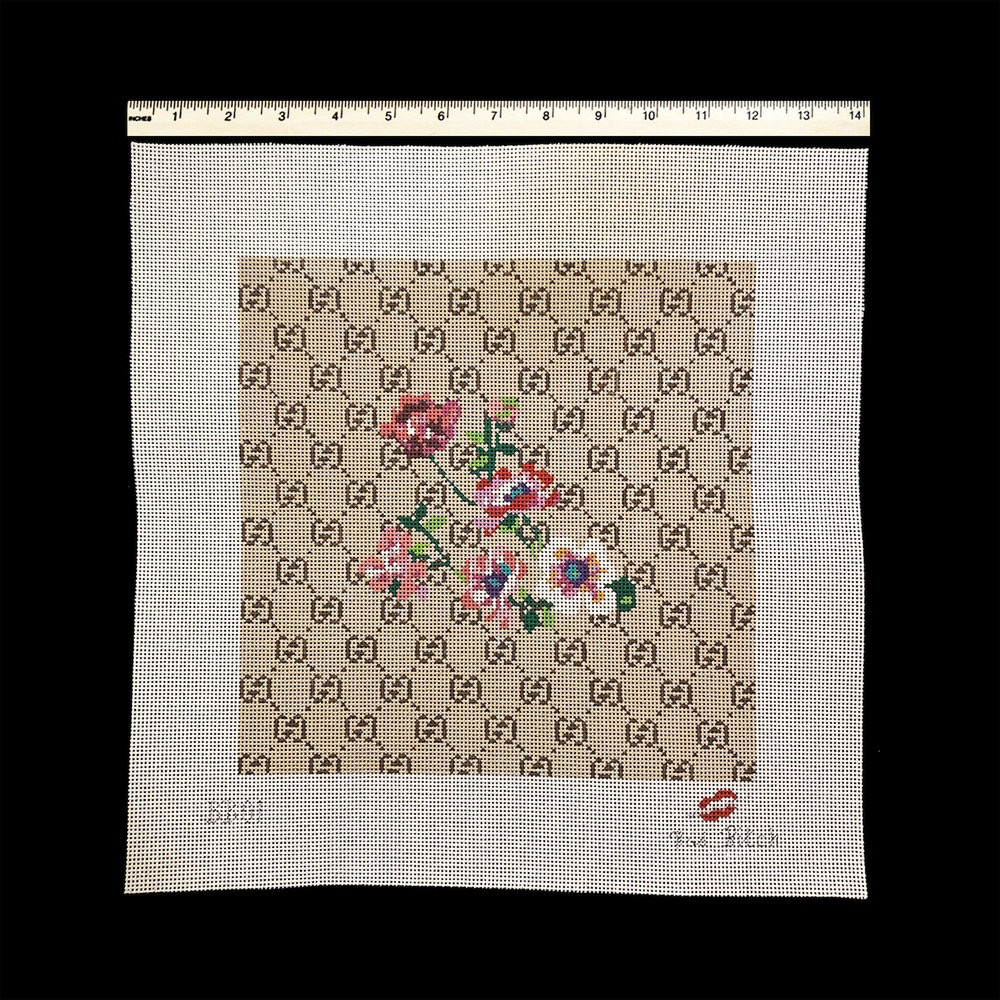 Canvas GUCCI WITH FLORAL CENTER  BB01