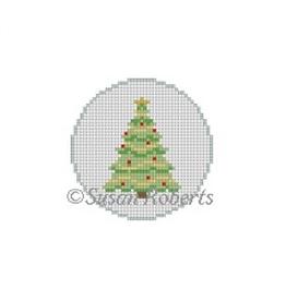Canvas CHRISTMAS TREE ROUND  5905