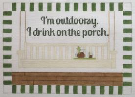 Canvas I'M OUTDOORSEY…I DRINK ON THE PORCH  RD155