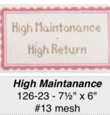 Canvas HIGH MAINTENANCE…HIGH RETURN  126-23