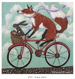 Canvas FOX AND RABBIT BIKE RIDE  EF101