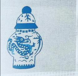 Canvas BLUE JARDINIERE  SB976