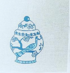 Canvas BLUE JARDINIERE  SB974