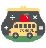 Canvas SCHOOL BUS PURSE  SH119