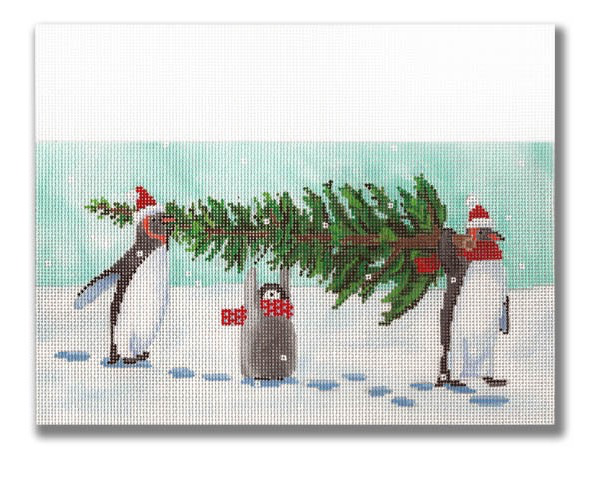 Canvas CUFF - PENGUINS BRING HOME TREE  SCCC04