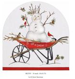 Canvas LET IT SNOW SNOWMAN  MLT555