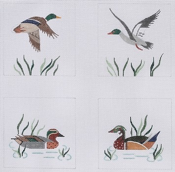 Canvas WILD DUCK COASTER SET  CO4-10